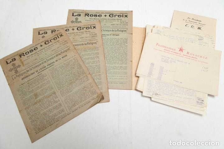 LA ROSE CROIX - REVISTAS ROSACRUZ 1-2-3-4-5-6-7-8-9 - DE 1930 Y 1931 Y CORRESPONDENCIA (Libros Antiguos, Raros y Curiosos - Parapsicología y Esoterismo)