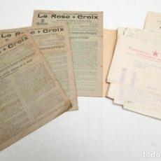 Libros antiguos: LA ROSE CROIX - REVISTAS ROSACRUZ 1-2-3-4-5-6-7-8-9 - DE 1930 Y 1931 MAS CORRESPONDENCIAS. Lote 132477906