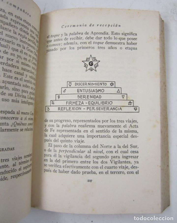 Libros antiguos: Manual del compañero, Magister, 1934, Editorial Maynadé, Barcelona. 12,5x19cm - Foto 3 - 132543150