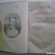 Libros antiguos: FLAMMARION. DIOS EN LA NATURALEZA. 1878. PRIMERA EDICION.. Lote 133009706