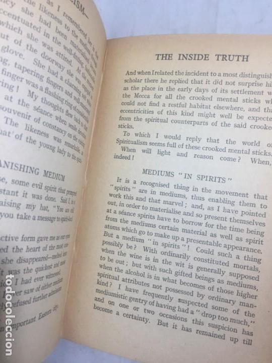 Libros antiguos: Spiritaulism Espiritismo Stuart Cumberland 1919 The Inside Truth buen estado London - Foto 6 - 133327590