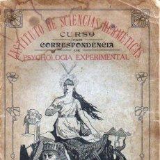 Libros antiguos: RADIOPATÍA - INSTITUTO DE SCIENCIAS HERMÉTICAS, SAO PAULO, 1898. Lote 134293770