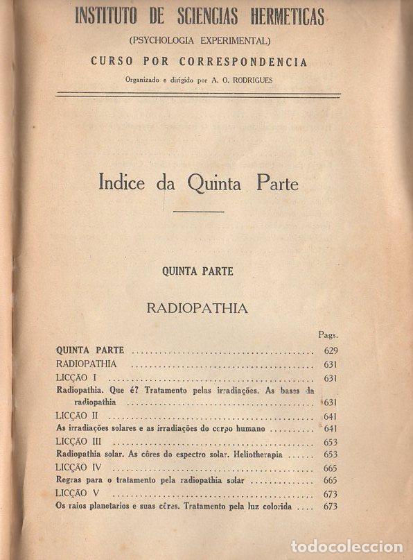 Libros antiguos: RADIOPATÍA - INSTITUTO DE SCIENCIAS HERMÉTICAS, SAO PAULO, 1898 - Foto 2 - 134293770