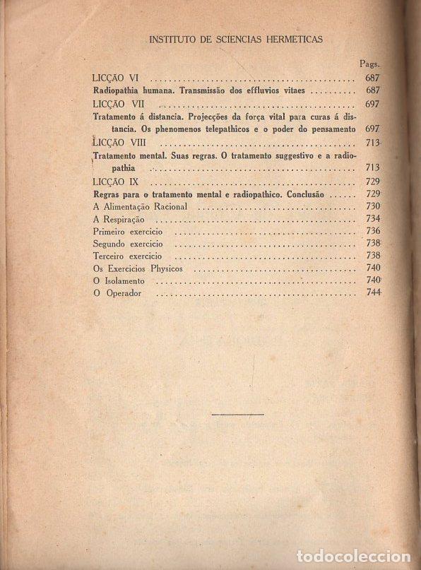 Libros antiguos: RADIOPATÍA - INSTITUTO DE SCIENCIAS HERMÉTICAS, SAO PAULO, 1898 - Foto 3 - 134293770