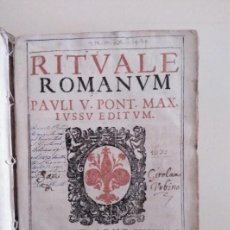 Libros antiguos: MUY ANTIGUO RITUALE ROMANUM AÑO 1632. Lote 184843273