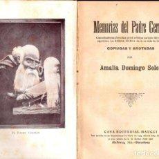 Libros antiguos: AMALIA DOMINGO SOLER : MEMORIAS DEL PADRE GERMÁN (MAUCCI, C. 1910). Lote 141234178