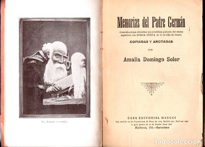 Libros antiguos: AMALIA DOMINGO SOLER : MEMORIAS DEL PADRE GERMÁN (MAUCCI, c. 1910) - Foto 2 - 141454206