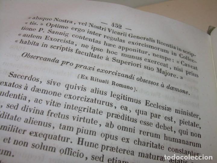 Libros antiguos: LIBRO DE EXORCISMOS Y BENDICIONES.NOVA COLLECTIO FORMAS BENEDICTIONUM...AÑO 1853 - Foto 6 - 145647814