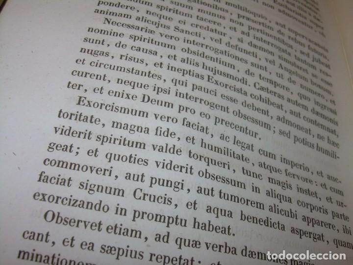 Libros antiguos: LIBRO DE EXORCISMOS Y BENDICIONES.NOVA COLLECTIO FORMAS BENEDICTIONUM...AÑO 1853 - Foto 8 - 145647814