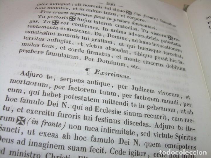 Libros antiguos: LIBRO DE EXORCISMOS Y BENDICIONES.NOVA COLLECTIO FORMAS BENEDICTIONUM...AÑO 1853 - Foto 9 - 145647814
