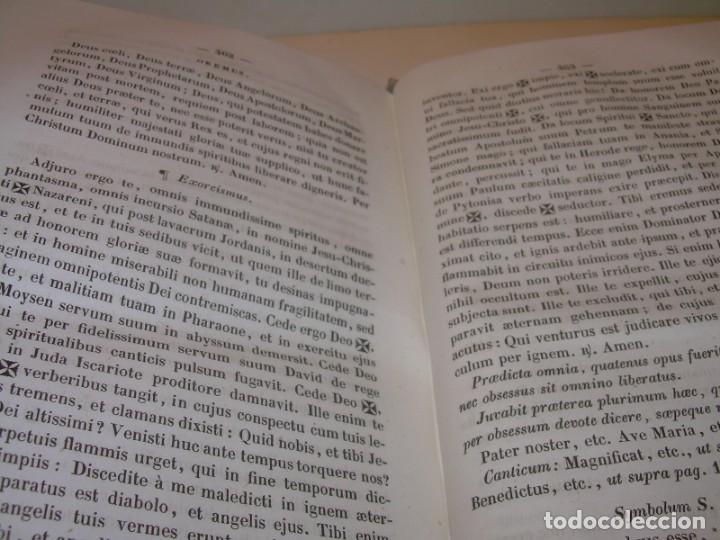 Libros antiguos: LIBRO DE EXORCISMOS Y BENDICIONES.NOVA COLLECTIO FORMAS BENEDICTIONUM...AÑO 1853 - Foto 10 - 145647814