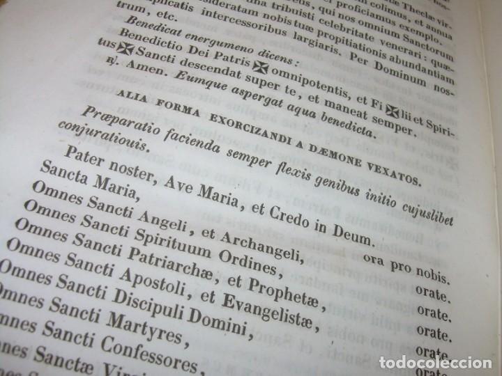 Libros antiguos: LIBRO DE EXORCISMOS Y BENDICIONES.NOVA COLLECTIO FORMAS BENEDICTIONUM...AÑO 1853 - Foto 11 - 145647814