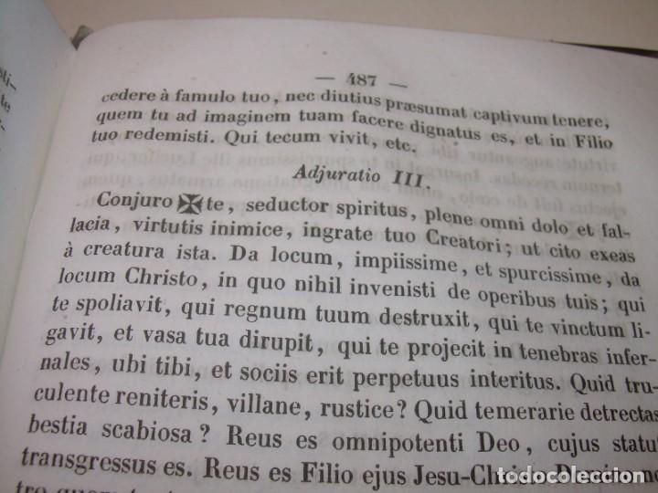 Libros antiguos: LIBRO DE EXORCISMOS Y BENDICIONES.NOVA COLLECTIO FORMAS BENEDICTIONUM...AÑO 1853 - Foto 12 - 145647814