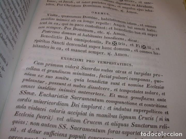 Libros antiguos: LIBRO DE EXORCISMOS Y BENDICIONES.NOVA COLLECTIO FORMAS BENEDICTIONUM...AÑO 1853 - Foto 13 - 145647814