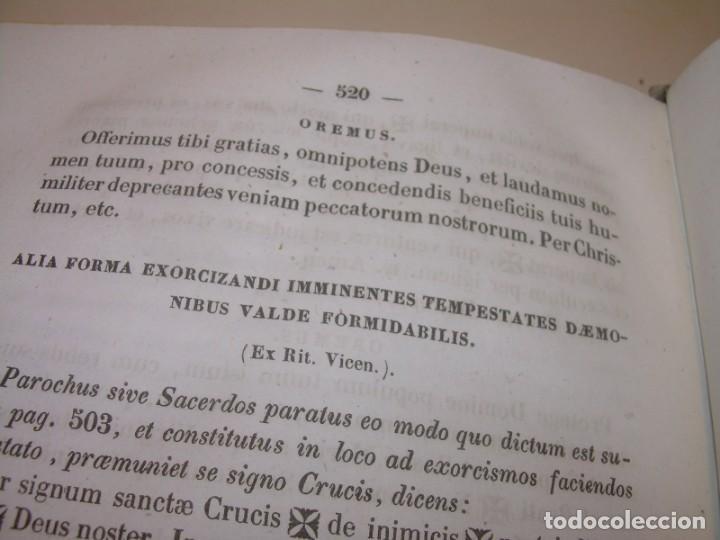 Libros antiguos: LIBRO DE EXORCISMOS Y BENDICIONES.NOVA COLLECTIO FORMAS BENEDICTIONUM...AÑO 1853 - Foto 16 - 145647814