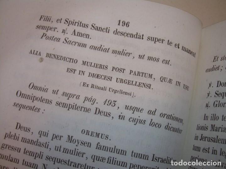 Libros antiguos: LIBRO DE EXORCISMOS Y BENDICIONES.NOVA COLLECTIO FORMAS BENEDICTIONUM...AÑO 1853 - Foto 17 - 145647814