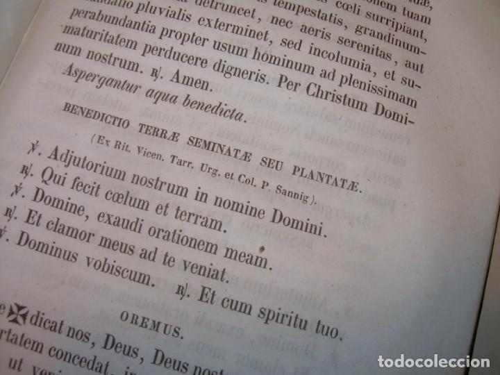Libros antiguos: LIBRO DE EXORCISMOS Y BENDICIONES.NOVA COLLECTIO FORMAS BENEDICTIONUM...AÑO 1853 - Foto 19 - 145647814