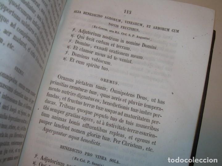 Libros antiguos: LIBRO DE EXORCISMOS Y BENDICIONES.NOVA COLLECTIO FORMAS BENEDICTIONUM...AÑO 1853 - Foto 20 - 145647814
