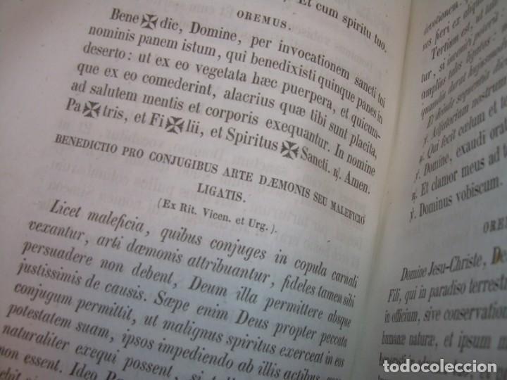 Libros antiguos: LIBRO DE EXORCISMOS Y BENDICIONES.NOVA COLLECTIO FORMAS BENEDICTIONUM...AÑO 1853 - Foto 23 - 145647814