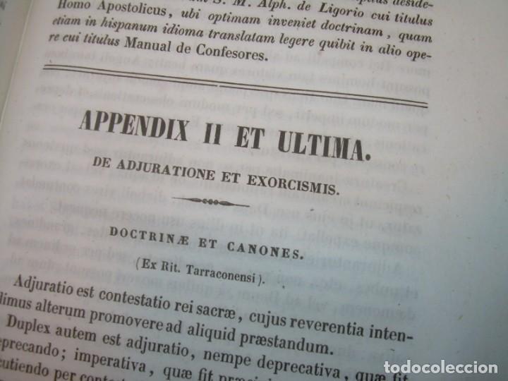 Libros antiguos: LIBRO DE EXORCISMOS Y BENDICIONES.NOVA COLLECTIO FORMAS BENEDICTIONUM...AÑO 1853 - Foto 24 - 145647814
