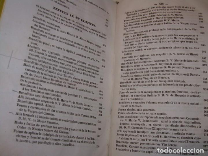Libros antiguos: LIBRO DE EXORCISMOS Y BENDICIONES.NOVA COLLECTIO FORMAS BENEDICTIONUM...AÑO 1853 - Foto 30 - 145647814