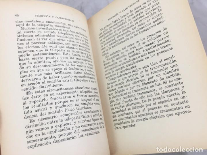 Libros antiguos: Telepatía y clarividencia Facultades Psíquicas Estudio y explicación científica Swami Panchadasi - Foto 4 - 149036810