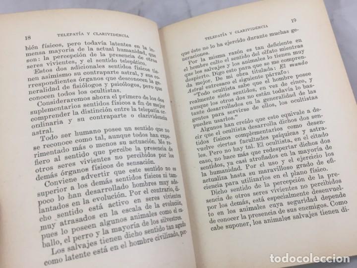 Libros antiguos: Telepatía y clarividencia Facultades Psíquicas Estudio y explicación científica Swami Panchadasi - Foto 8 - 149036810