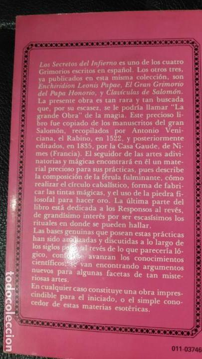 Libros antiguos: LOS SECRETOS DEL INFIERNO - Foto 2 - 149509094