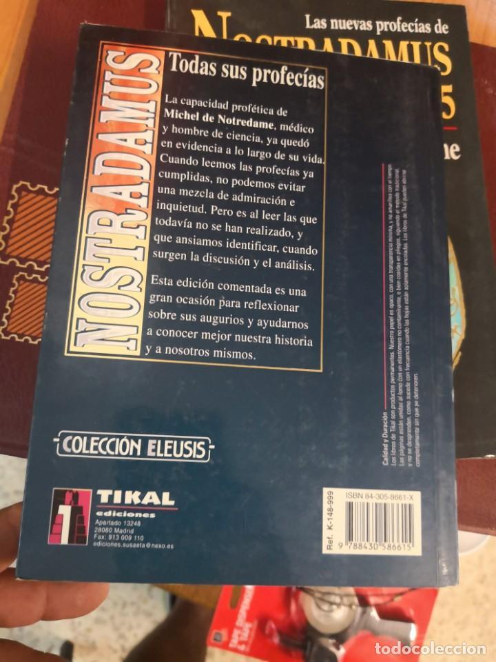 Libros antiguos: NOSTRADAMUS - TODAS SUS PROFECÍAS. EDICIÓN COMENTADA Y BILINGÜE EN FRANCÉS Y Castellano. 339 paginas - Foto 2 - 149932186