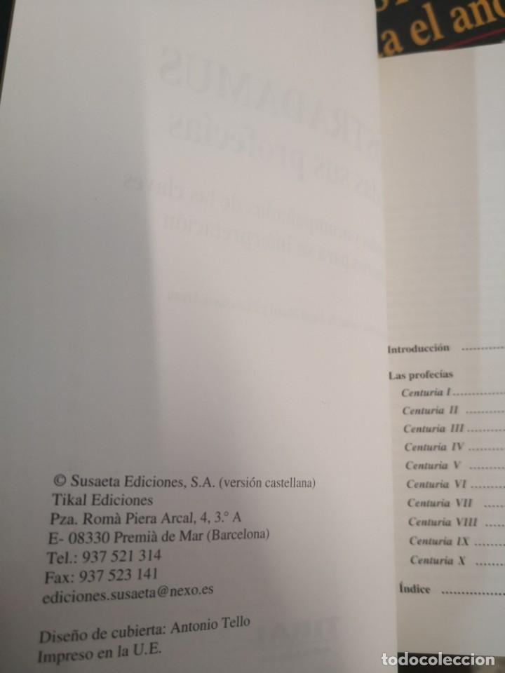 Libros antiguos: NOSTRADAMUS - TODAS SUS PROFECÍAS. EDICIÓN COMENTADA Y BILINGÜE EN FRANCÉS Y Castellano. 339 paginas - Foto 3 - 149932186