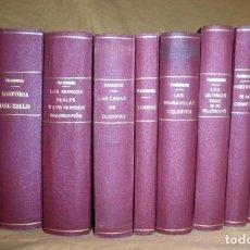 Libros antiguos: OBRAS DE CAMILO FLAMMARION - AÑO 1910 - 10 TOMOS ILUSTRADOS.EXCEPCIONAL.. Lote 150810546