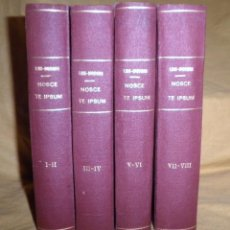 Libros antiguos: NOSCE TE IPSUM·TRATADO DE PSICOFISICA UNIVERSAL - MADRID AÑO 1927 - EDUARDO NIÑO - MUY RAROS.. Lote 150813022