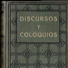 Libros antiguos: SWAMI VIVEKANANDA : DISCURSOS Y COLOQUIOS (ANTONIO ROCH, C. 1930). Lote 151888098