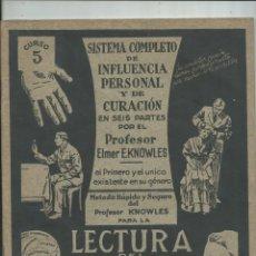 Alte Bücher - LECTURA DEL CARACTER FISONOMIA FRENOLOGIA GRAFOLOGIA influencia personal curación - 155186770