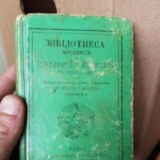 Libros antiguos: ANTIGUO LIBRO BIBLIOTECA MASONICA EN PORTUGUÉS. Lote 155427926