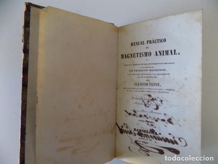 Libros antiguos: LIBRERIA GHOTICA. RARO LIBRO SOBRE MAGNETISMO ANIMAL. ALFONSO TESTE.1845.1A EDICIÓN.OCULTISMO. - Foto 3 - 155442870