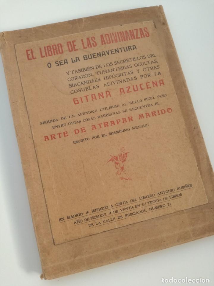 Libros antiguos: EL LIBRO DE LAS ADIVINANZAS O SEA LA BUENAVENTURA - GITANA AZUCENA (1916) - ARTE DE ATRAPAR MARIDO - Foto 2 - 157949390