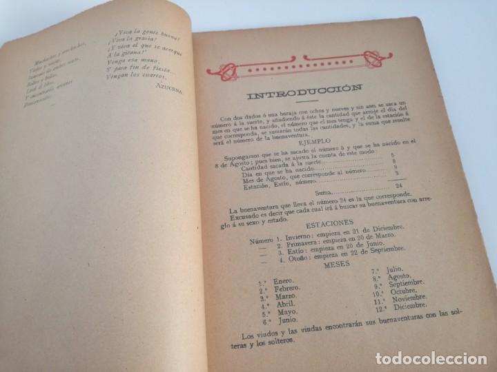 Libros antiguos: EL LIBRO DE LAS ADIVINANZAS O SEA LA BUENAVENTURA - GITANA AZUCENA (1916) - ARTE DE ATRAPAR MARIDO - Foto 4 - 157949390