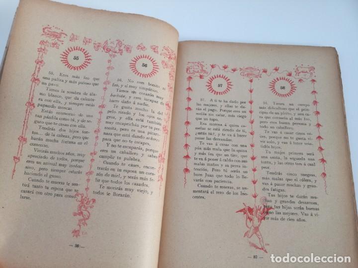 Libros antiguos: EL LIBRO DE LAS ADIVINANZAS O SEA LA BUENAVENTURA - GITANA AZUCENA (1916) - ARTE DE ATRAPAR MARIDO - Foto 5 - 157949390