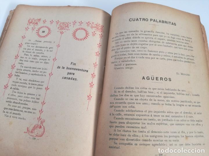 Libros antiguos: EL LIBRO DE LAS ADIVINANZAS O SEA LA BUENAVENTURA - GITANA AZUCENA (1916) - ARTE DE ATRAPAR MARIDO - Foto 7 - 157949390
