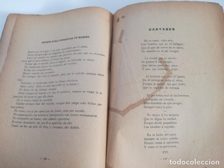 Libros antiguos: EL LIBRO DE LAS ADIVINANZAS O SEA LA BUENAVENTURA - GITANA AZUCENA (1916) - ARTE DE ATRAPAR MARIDO - Foto 8 - 157949390