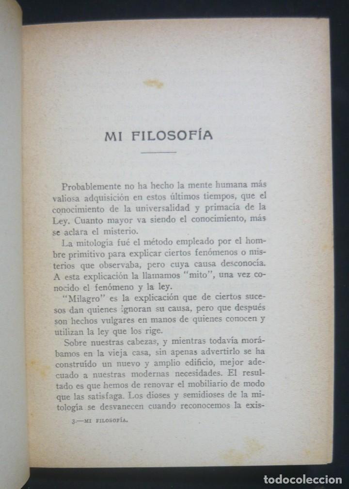 Libros antiguos: 1930 - Rodolfo Waldo Trine: Mi Filosofía y Mi Religión - Nuevo Pensamiento - Barcelona, Antonio Roch - Foto 5 - 162013018