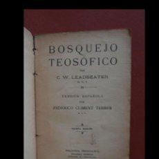 Alte Bücher - Bosquejo Teosófico. C.W. Leadbeater - 162572222
