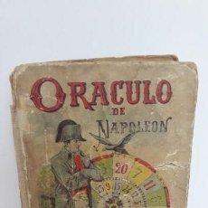 Libros antiguos: ORÁCULO DE NAPOLEÓN LIBRO DE LOS DESTINOS – SATURNINO CALLEJA.. Lote 168129068