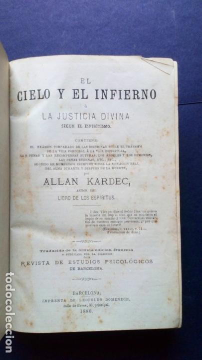Libros antiguos: libro de los espiritus - allan kardec - Foto 2 - 170849395