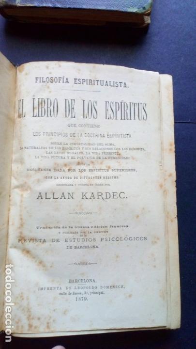 Libros antiguos: libro de los espiritus - allan kardec - Foto 3 - 170849395