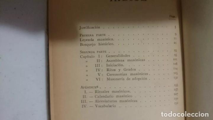 Libros antiguos: MANUAL DEL FRANCMASON - ANTIGUO Y RARO DE 1924 - Foto 2 - 170895045