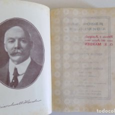 Libros antiguos: LIBRERIA GHOTICA. ORISON SWETT MARDEN. PAZ, PODER Y ABUNDANCIA. 1910. PRIMERA EDICIÓN.. Lote 174476449