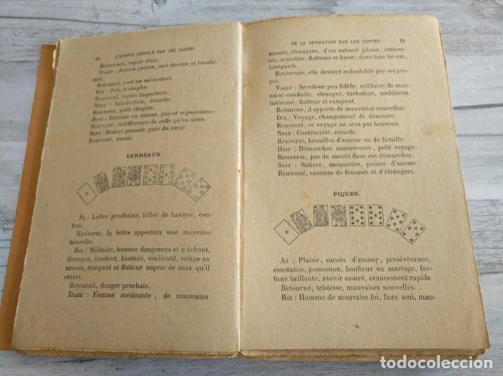 Libros antiguos: RARO: EL PORVENIR DESVELADO POR LAS CARTAS - LAVENIR DÉVOILÉ PAR LES CARTES - Foto 6 - 174581588