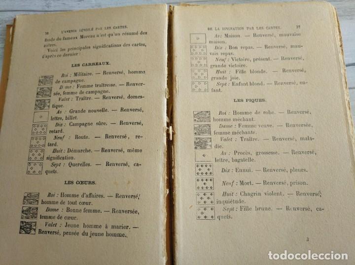 Libros antiguos: RARO: EL PORVENIR DESVELADO POR LAS CARTAS - LAVENIR DÉVOILÉ PAR LES CARTES - Foto 7 - 174581588